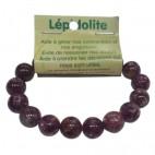 lépidolite bracelet grandes boules