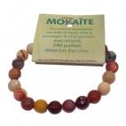 mokaïte bracelet grandes boules à facettes