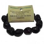 obsidienne larme d'apache bracelet fantaisie grands galets