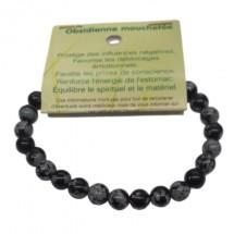 obsidienne mouchetée bracelet petites boules