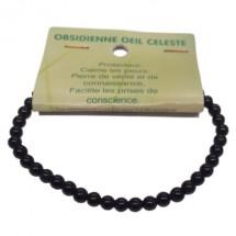 obsidienne oeil céleste bracelet très petites boules