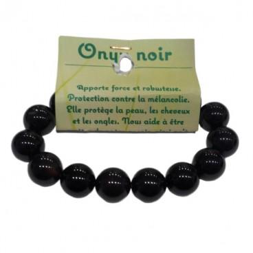 onyx bracelet grandes boules
