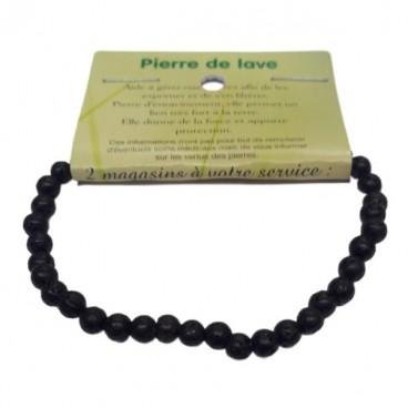 pierre de lave bracelet très petites boules