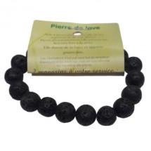pierre de lave bracelet grandes boules