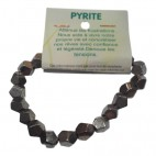 pyrite grand bracelet fantaisie pentagonal