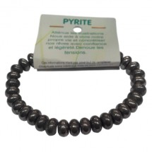 pyrite bracelet fantaisie moyennes rondelles