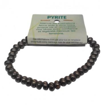 pyrite bracelet fantaisie petites rondelles