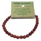 pierre de soleil (rivière d'or) bracelet petites boules à facettes