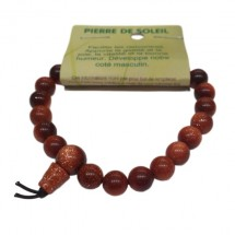 pierre de soleil (rivière d'or) bracelet tibétain moyennes boules