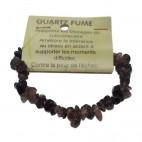 quartz fumé bracelet baroque