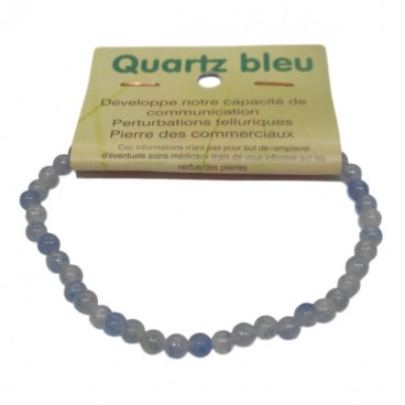 quartz bleu bracelet très petites boules