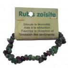 rubis zoïsite bracelet baroque