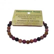tourmaline rose bracelet petites boules