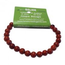 jaspe rouge bracelet moyennes boules (bélier)