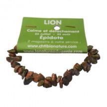 épidote (unakite) bracelet baroque (lion)