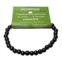 hématite bracelet moyennes boules (scorpion)