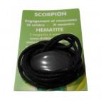 hématite galet percé (scorpion)