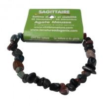 agate mousse bracelet baroque (sagittaire)