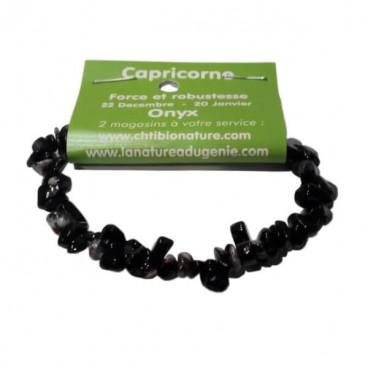onyx bracelet baroque (capricorne)