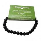 onyx bracelet moyennes boules (capricorne)