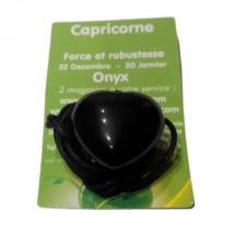 onyx coeur percé (capricorne)