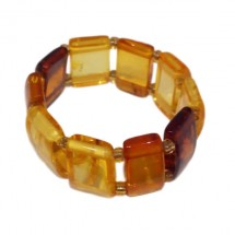 ambre bague rectangles
