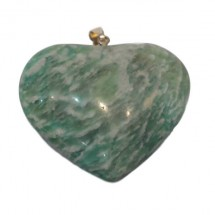 amazonite grand coeur monté