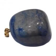 quartz bleu galet monté