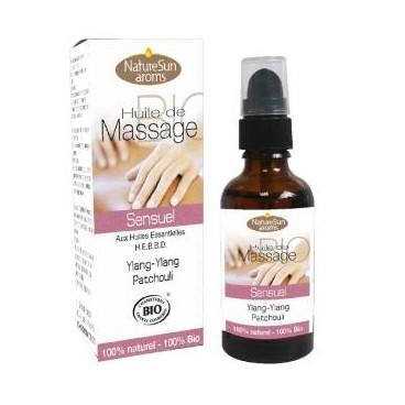 Huile de massage - sensuel - ylang-ylang patchouli 50ml