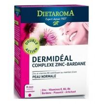 Dermidéal - complexe zinc-bardane - peau normale - 30 comprimés