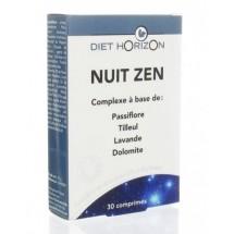 Nuit zen - passiflore, tilleul, lavande, dolomite - 30 comprimés