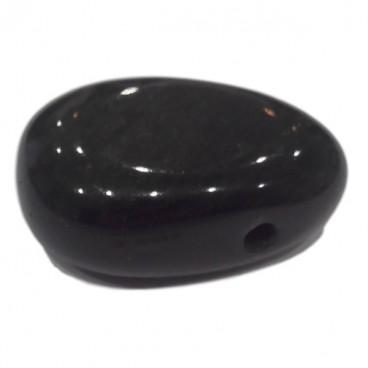 obsidienne dorée galet pendentif