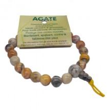 agate bracelet moyennes boules tibétain