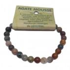 agate mousse bracelet petites boules