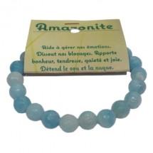amazonite bracelet grandes boules à facettes