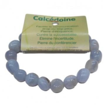 calcédoine bracelet fantaisie moyens galets