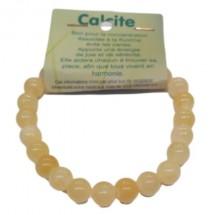calcite orange bracelet moyennes boules