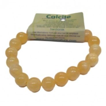 calcite orange bracelet grandes boules