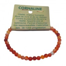 cornaline bracelet très petites boules