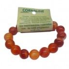 cornaline bracelet grandes boules
