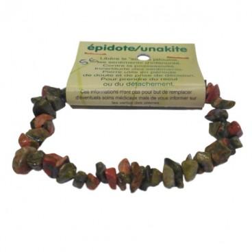 épidote (unakite) bracelet baroque