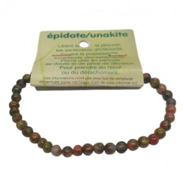 épidote (unakite) bracelet très petites boules