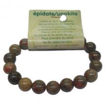épidote (unakite) bracelet grandes boules