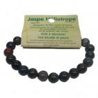 jaspe héliotrope bracelet moyennes boules