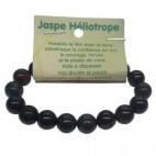 jaspe héliotrope bracelet grandes boules